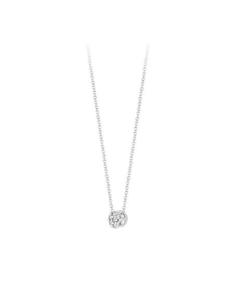 Blush 3602WDI Collier 14 krt witgoud met diamant