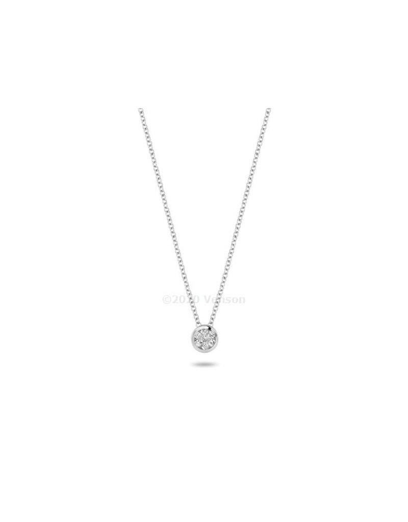 Blush 3601WDI Collier 14 krt witgoud met diamant