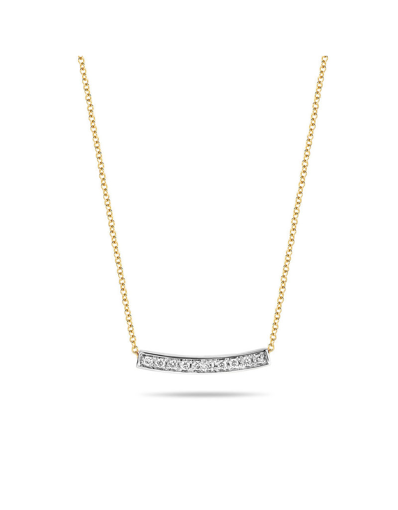 Blush 3605BDI Collier 14 krt geelgoud met diamant