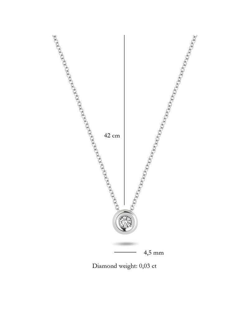 Blush 3606WDI Collier 14 krt witgoud met diamant