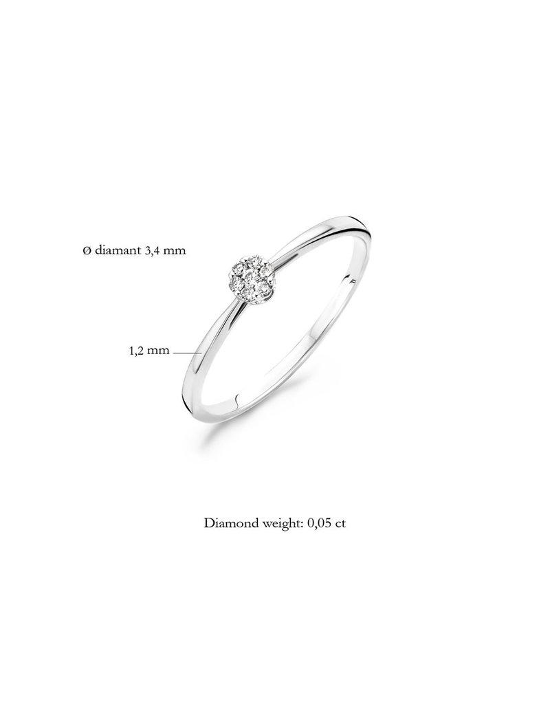 Blush 1608WDI/52 Ring 14 krt witgoud met diamant maat 54