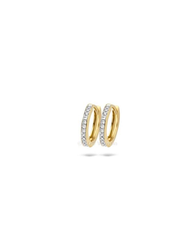 Blush 7612BDI Oorbellen 14 krt geelgoud met diamant
