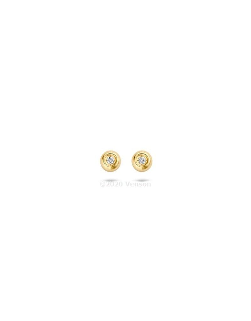 Blush 7613YDI Oorbellen 14 krt geelgoud met diamant