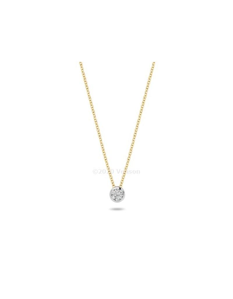 Blush 3600BDI Collier 14 krt geelgoud met diamant