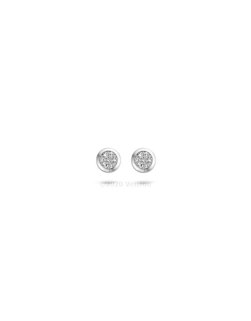 Blush 7610WDI Oorbellen 14 krt witgoud met diamant