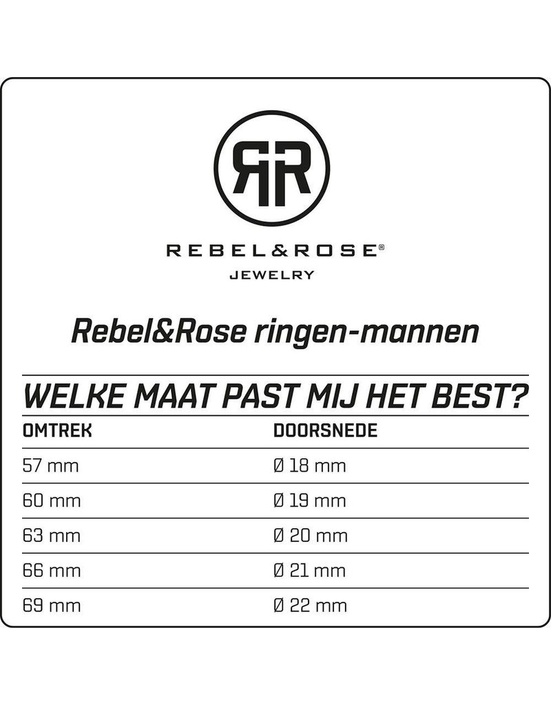 Rebel&Rose RR-RG004-S-63 Ring Silver Square Onyx 63-20