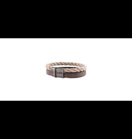 Josh Josh 09234-BRA Armband leer/touw Bruin/Beige 22CM