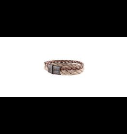 Josh Josh 09244-BRA Armband leer/touw Congac/Beige 21CM