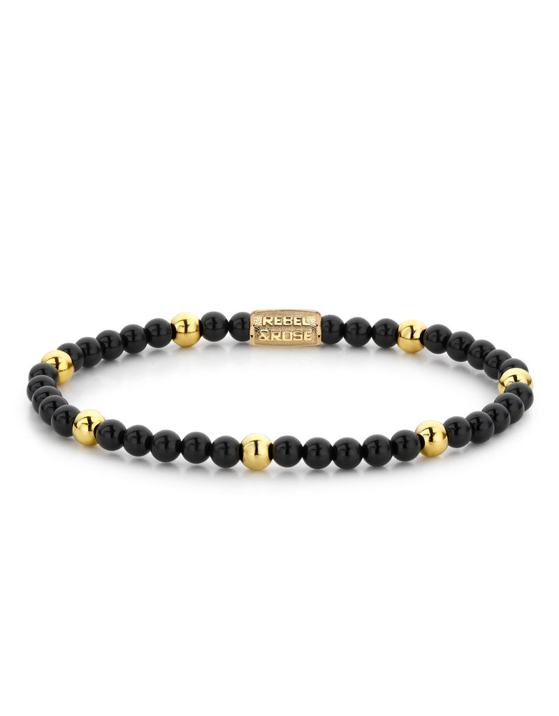 Rebel&Rose RR-40043-G-S Armband Black Panther-Yellow Gold plated - 4MM