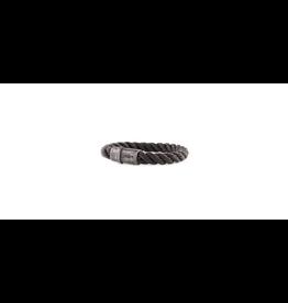 Josh Josh 09229-BRA Armband touw zwart 21CM