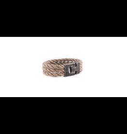 Josh Josh 24898-BRA Armband driedubbel touw beige 21CM
