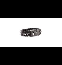 Josh Josh 24900-BRA Armband driedubbel touw/kraal zwart 20CM