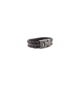 Josh Josh 24901-BRA Armband driedubbel touw/leer zwart 21CM