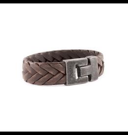 Josh Josh 24904-BRA Armband leer bruin 23cm