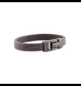 Josh Josh 24908-BRA Armband leer zwart 23CM