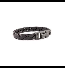 Josh Josh 24902-BRA Armband leer zwart 23CM