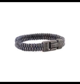 Josh Josh 24915-BRA Armband leer blauw 23 cm