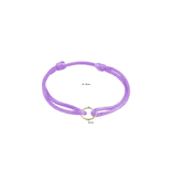 Huiscollectie - Goud Armband Satijn Lavendel met 14 Krt goud symbool