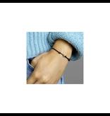 Blinckers Jewelry Huiscollectie 4700089 Armband Satijn zwart met 14 Krt goud symbool