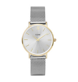 Cluse CW0101203015 Minuit Mesh Gold Silver horloge