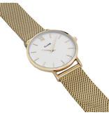 Cluse CW0101203007  Minuit Mesh Gold White horloge