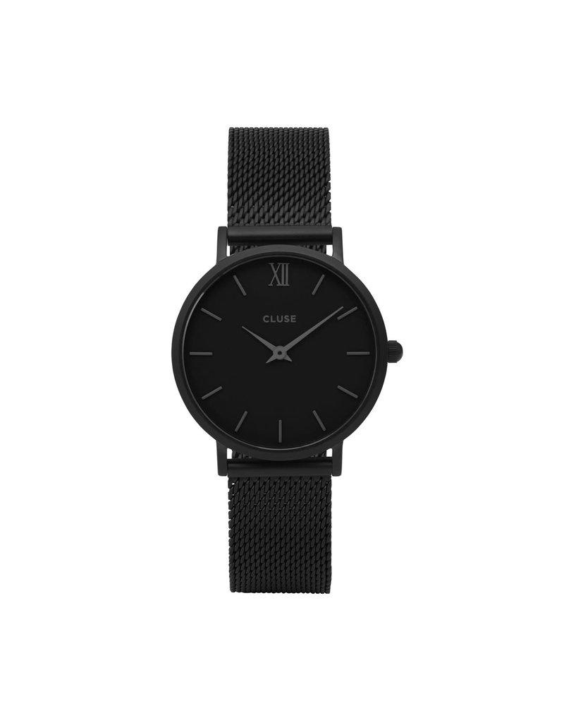 Cluse CW0101203012 Minuit Mesh Full Black horloge