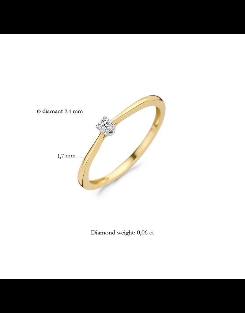 Blush Blush 1621BDI/54 Ring 14 Krt goud met diamant 0.06Crt