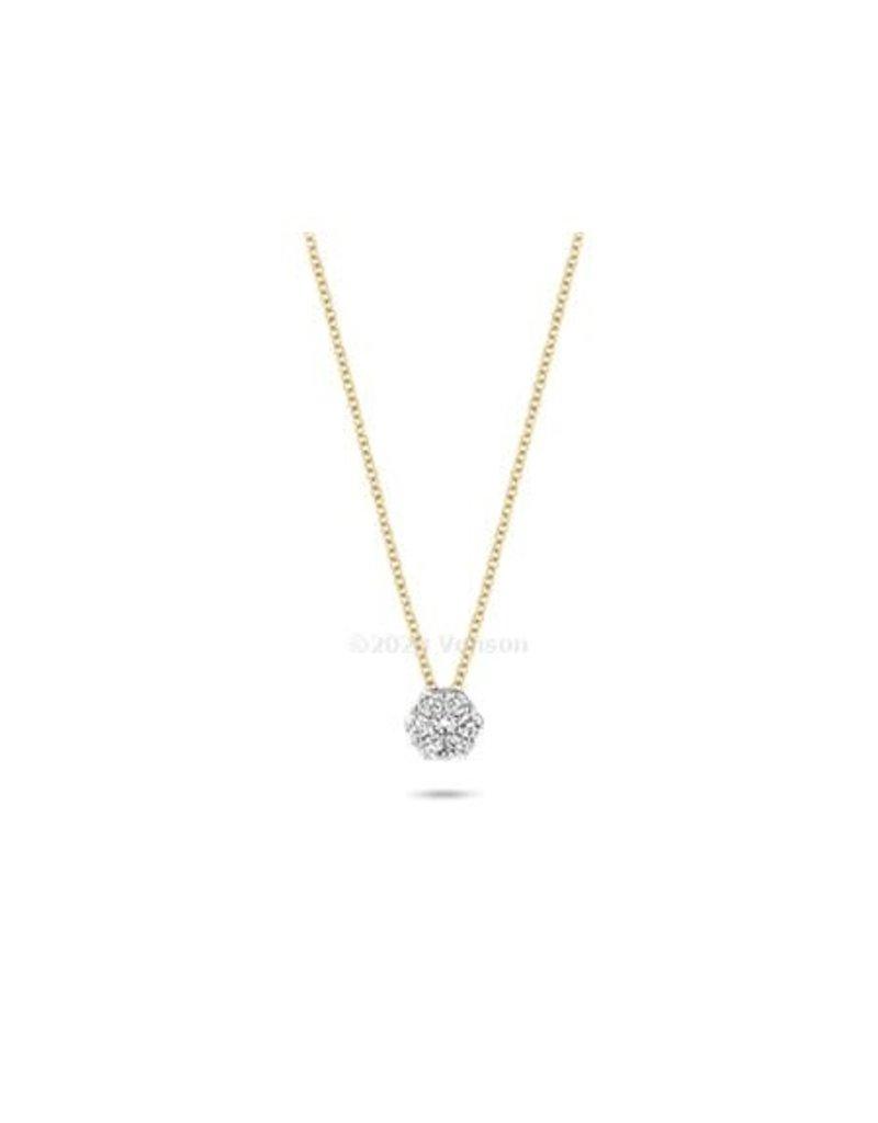 Blush 3603BDI Colllier 14 Krt Goud met Diamant