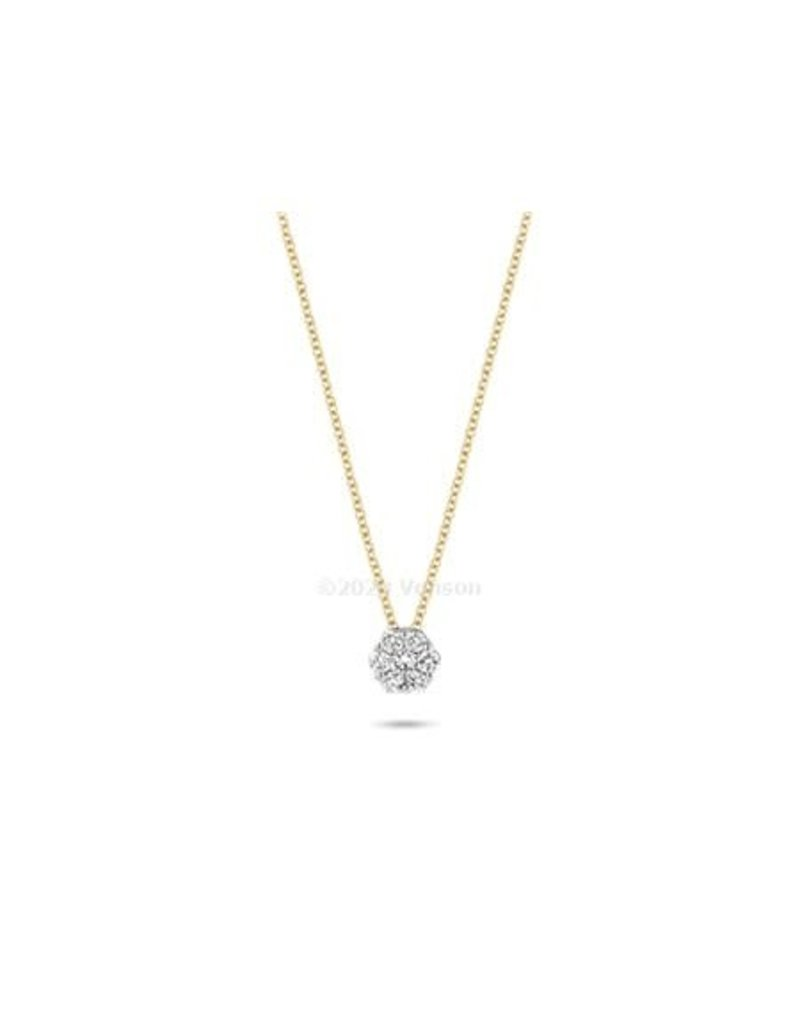 Blush Blush 3603BDI Colllier 14 Krt Goud met Diamant