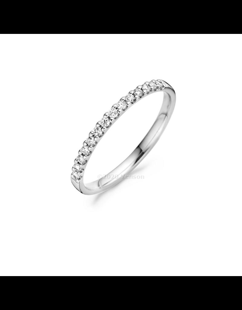 Blush 1628WDI/54 Ring 14 Krt witgoud met Diamant 0.018 Crt