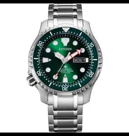 Citizen NY0100-50XE Horloge Promaster Diver Super titanium groen