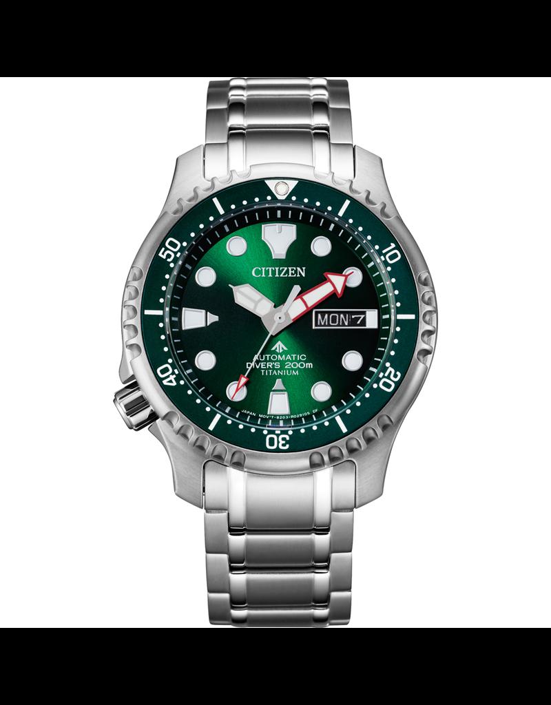 Citizen Citizen NY0100-50XE Horloge Promaster Diver Super titanium groen