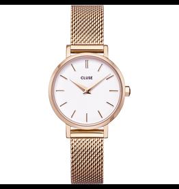 Cluse Cluse CW0101211003 Horloge La Boheme Petite Mesh White/Rosé Gold