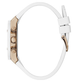 Guess Guess GW0030L3 Horloge Dames Staal goudkleur wit Siliconen band
