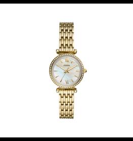 Fossil Fossil ES4735 horloge Dames staal goudkleurig Mop