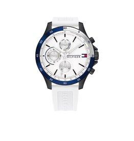 Tommy Hilfiger TH1791723 Horloge Heren Bank Siliconen wit