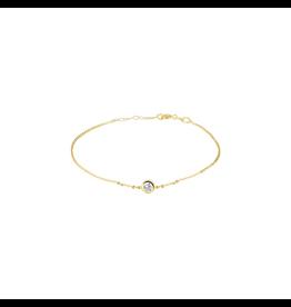 Huiscollectie - Goud Armband 40.18565 14 Krt met Zirkonia