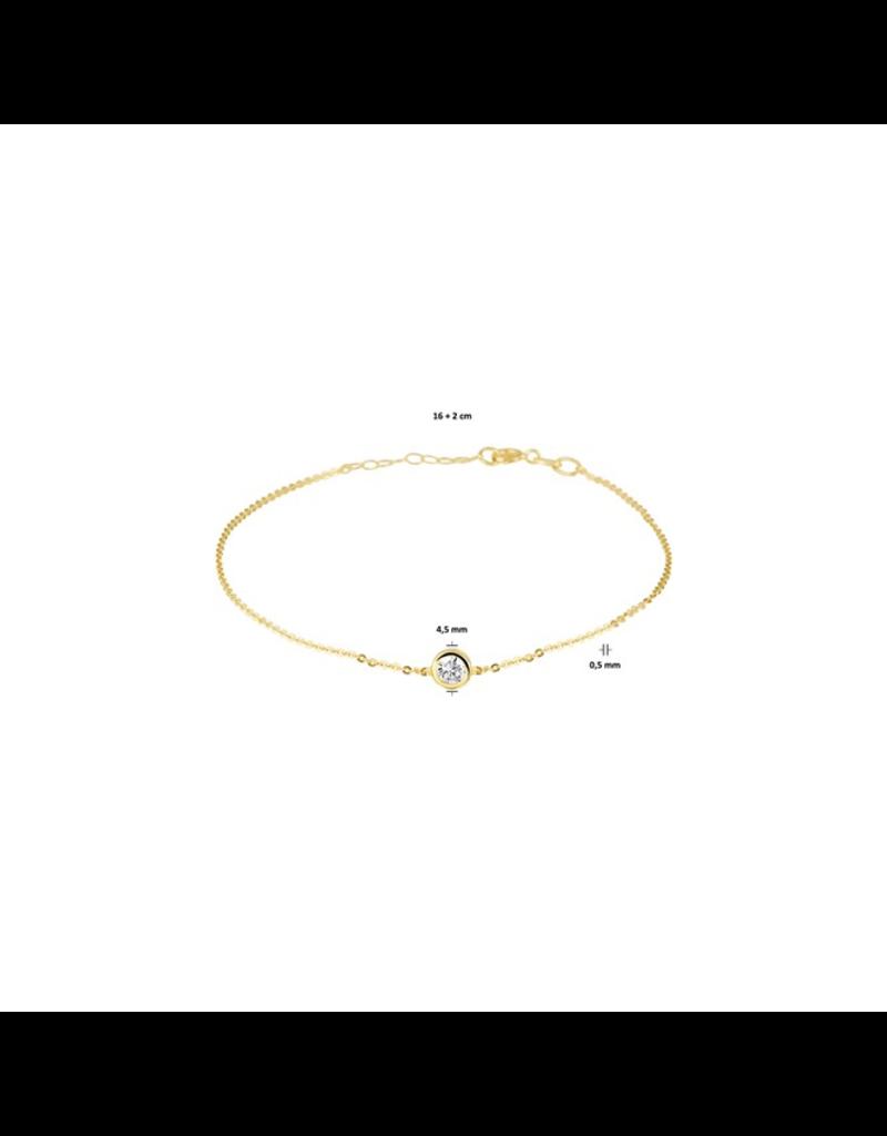 Blinckers Jewelry Huiscollectie 40.18565 Armband 14 Krt met Zirkonia
