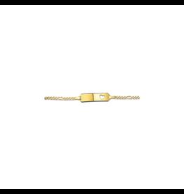 Huiscollectie - Goud 40.18460  14 Krt goud baby plaatarmband