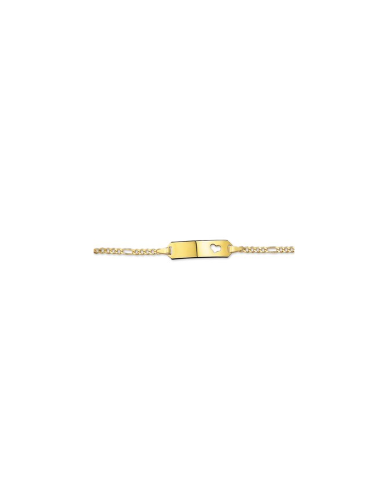 Blinckers Jewelry Huiscollectie 14 Krt goud baby plaatarmband - 11, 13 cm