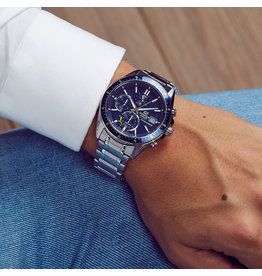 Edifice EFS-s510d-2AVUEF Horloge heren staal blauw Solar