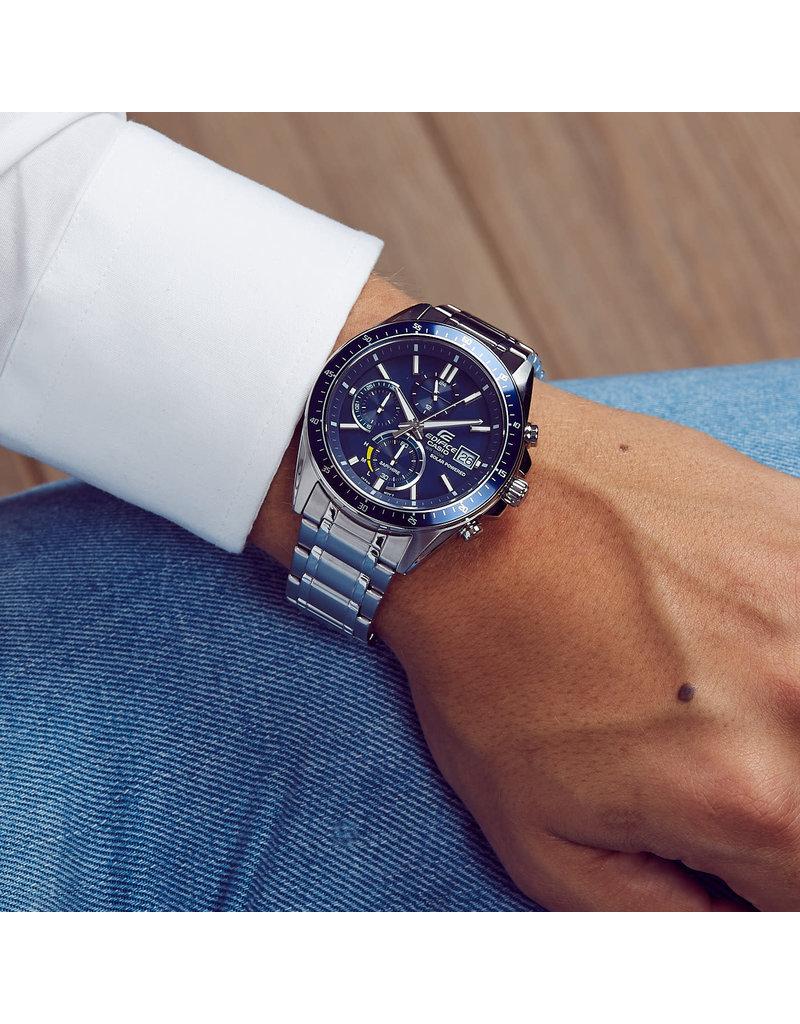 Edifice Edifice EFS-s510d-2AVUEF Horloge heren staal blauw Solar