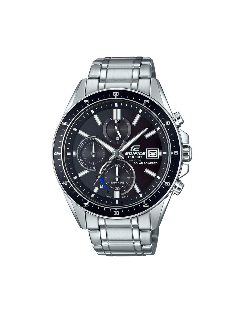 Edifice Edifice EFS-s510d-1AVUEF Horloge heren staal zwart Solar