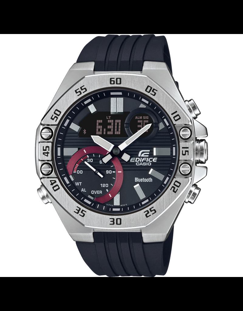 Edifice Edifice ECB-10P-1AEF Horloge heren Chrono Bluetooth staal rubber