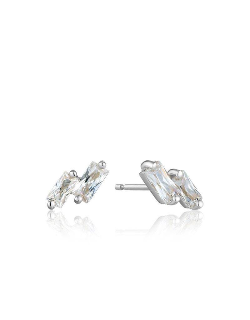ANIA HAIE JEWELRY AH E018-07H Oorbellen Glow Stud zilver met zirkonia