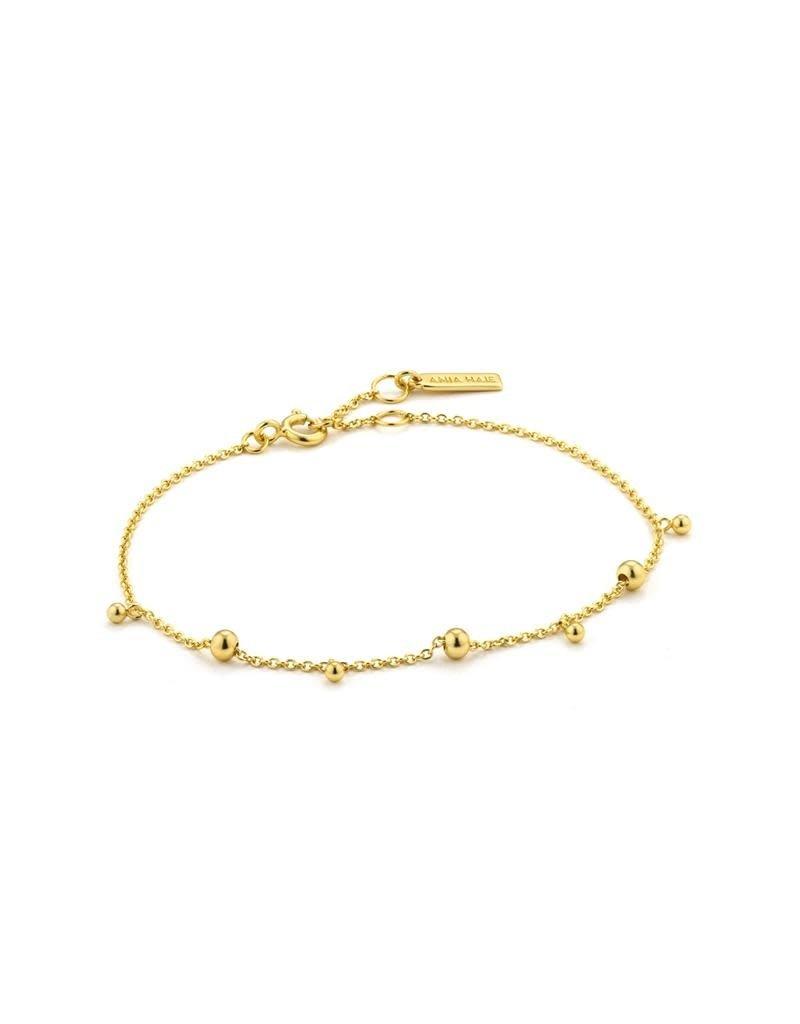 ANIA HAIE JEWELRY AH B002-03G Armband modern drop balls zilver goudkleurig