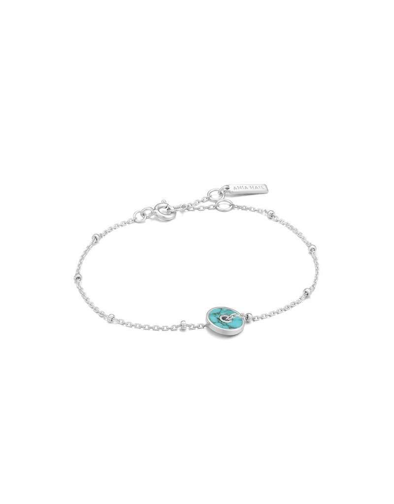 ANIA HAIE JEWELRY AH B022-01H  Armband Turquoise Disc zilver