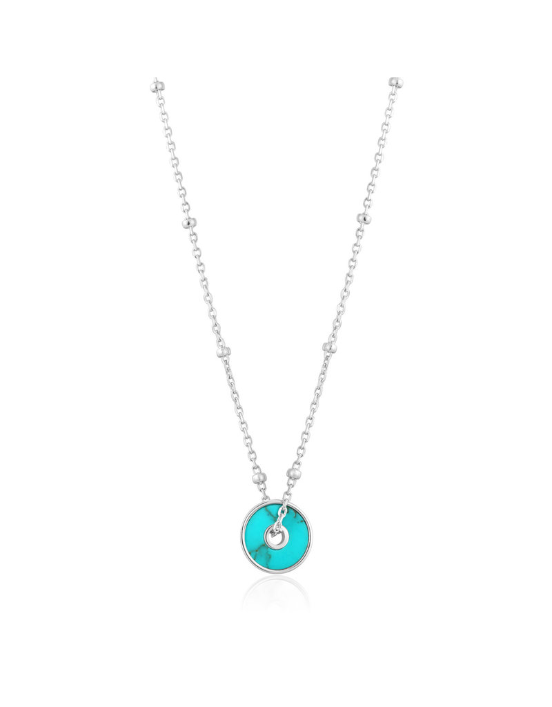 ANIA HAIE JEWELRY AH N022-01H Collier Turquoise disc zilver