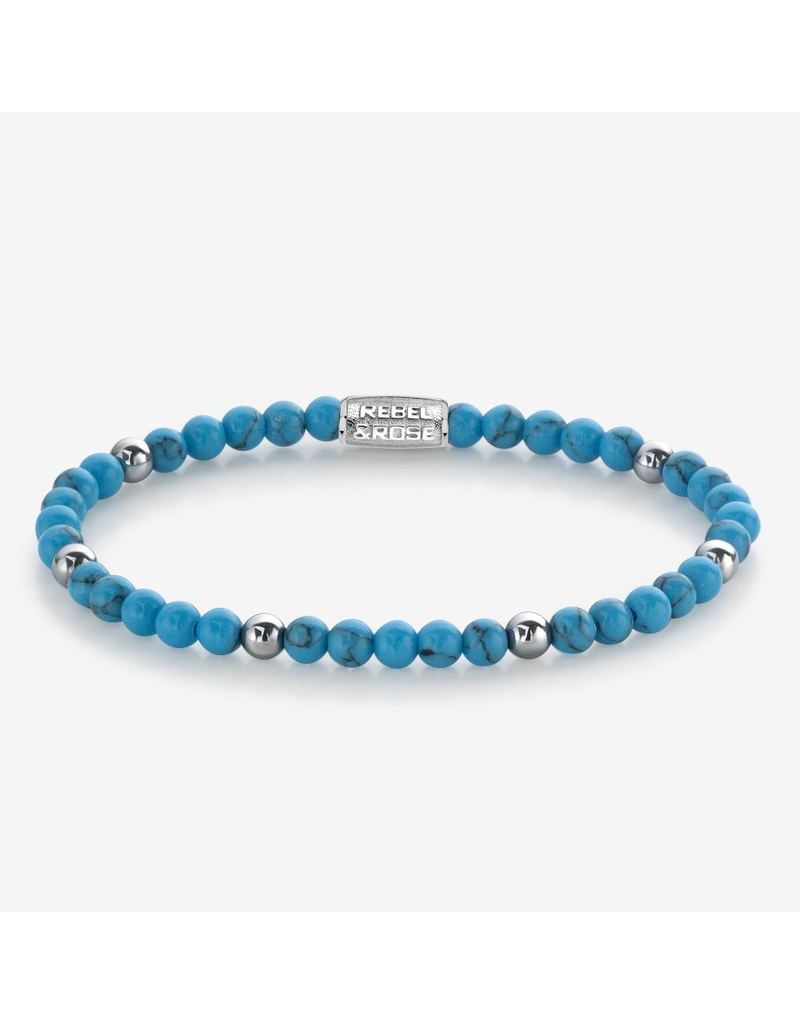 Rebel&Rose RR-40058-S-S Armband Turquoise delight - 4MM- S