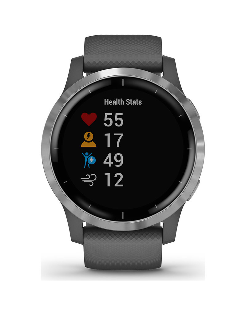 Garmin Garmin 010-02174-02 Smartwatch vivoactive 4 Shadow Grey/ Silver
